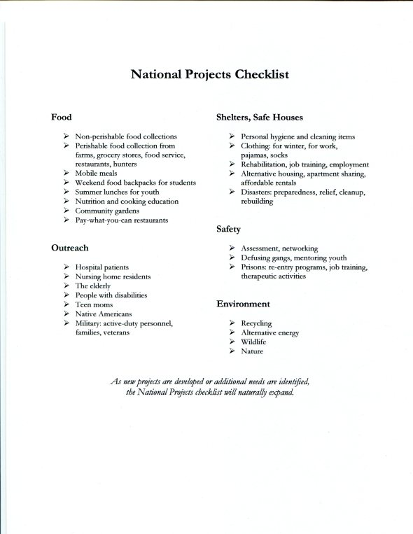 Graphic 1A_Revised National Projects Checklist